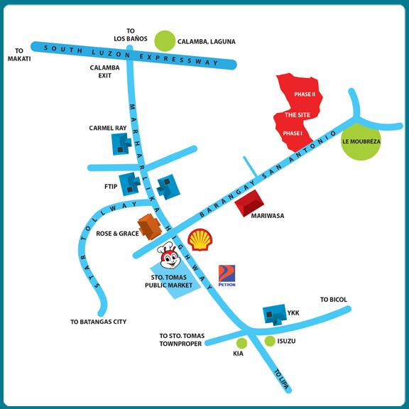 Sample Website Map: Townsville Sto Tomas